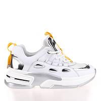 Женские яркие кроссовки Allshoes 102-65070 WHITE/YELLOW KOGA ВЕСНА 2020, фото 1
