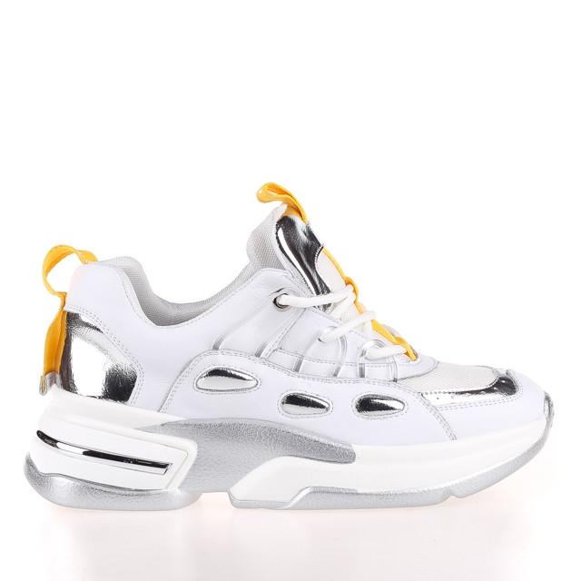 Жіночі яскраві кросівки Allshoes 102-65070 WHITE/YELLOW KOGA ВЕСНА 2020