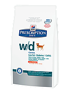 Корм для собак Hills PD Canine W/D 1,5 кг хиллс при заболевании сахарным диабетом, колитах, для снижения веса