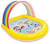 Детский бассейн 57156 Intex Радуга (147х130х86 см) с распылителем