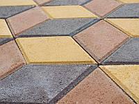 "Тротуарная плитка ""Ромб"" 180х180 высота 60 мм цветная"