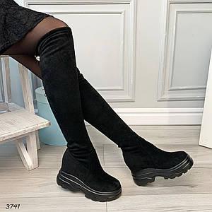 Сапоги осенние женские без каблука
