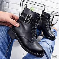Ботинки женские Mari черные 9022, фото 1