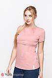 Базовая футболка для беременных и кормящих из трикотажа MARGO NR-10.012, фото 2