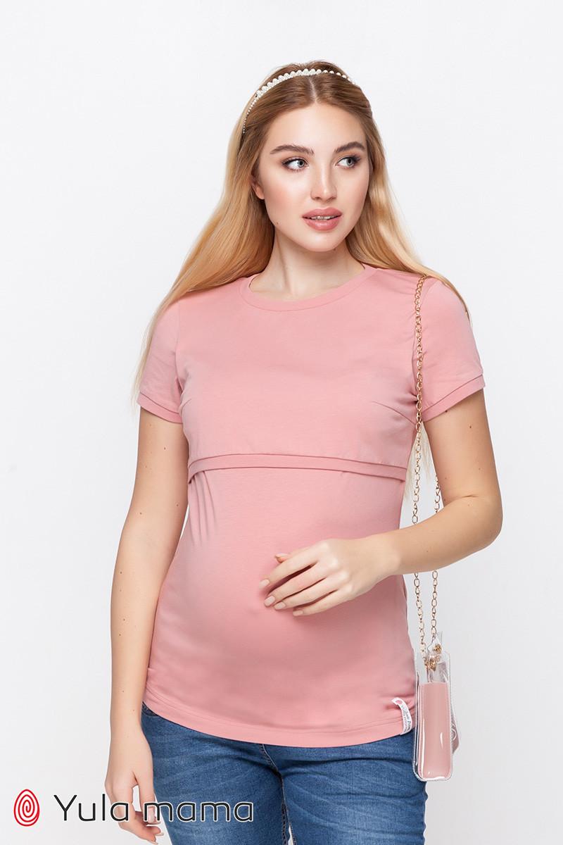 Базовая футболка для беременных и кормящих из трикотажа MARGO NR-10.012