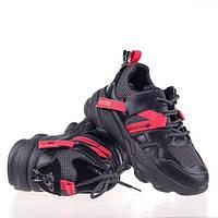Стильные черные кроссовки  Lonza JL2001 BLACK весна 2020, фото 1