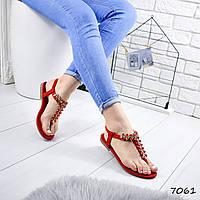 Босоножки женские Frida красные 7061, фото 1