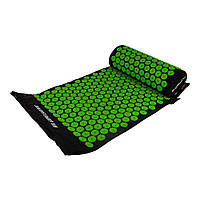 Акупунктурний масажний килимок з подушкою, салатовий, фото 1