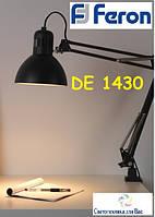 Светильник-лампа настольная со струбциной FERON DE1430 черный Е27