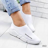 Кроссовки женские в стиле Balenciaga белые 8163, фото 1