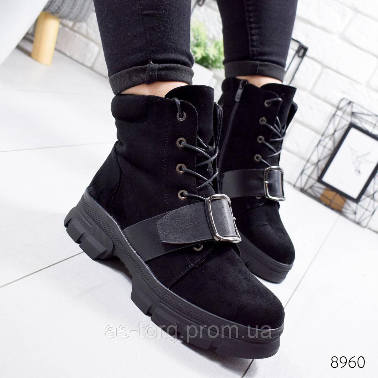 Ботинки женские Nube черные 8960 зима