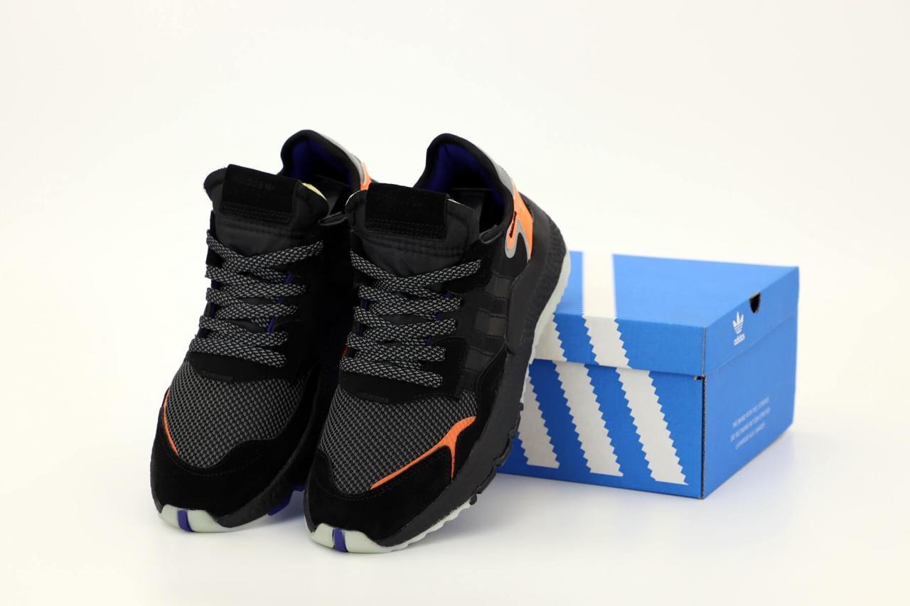 Мужские кроссовки Adidas Nite Jogger Black Orange