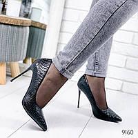 Туфли женские Stella питон черные 9160, фото 1