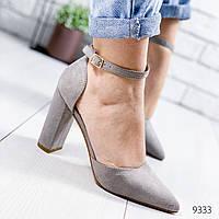 Туфли женские Semmix серые 9333, фото 1