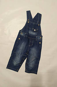 Джинсовые штаны-комбинезон синие Lupilu (Германия) р.68см