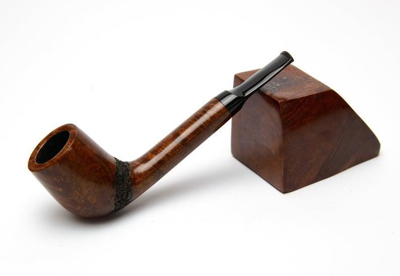 Курительная трубка из бриара Canadian ручной работы прямоток