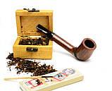 Курительная трубка из бриара Canadian ручной работы прямоток, фото 4