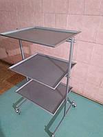 Металлический столик , медицинский . Разборной