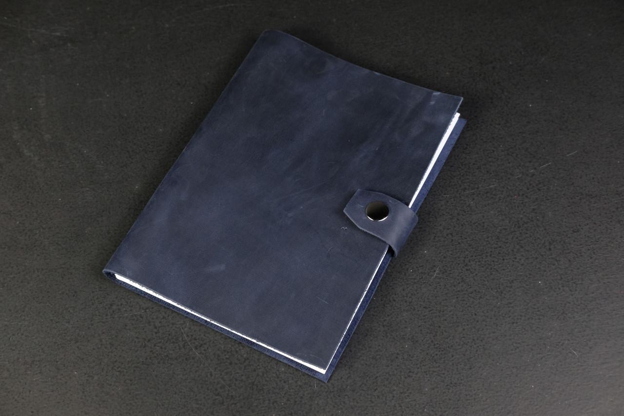 Купить Блокнот в кожаной обложке формата А5 Винтажная кожа цвет Синий, Berty