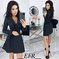 Платье мини стильное с поясом в комплекте цвета: черный, марсала, кофейный, терракотовый, полоска, фото 1