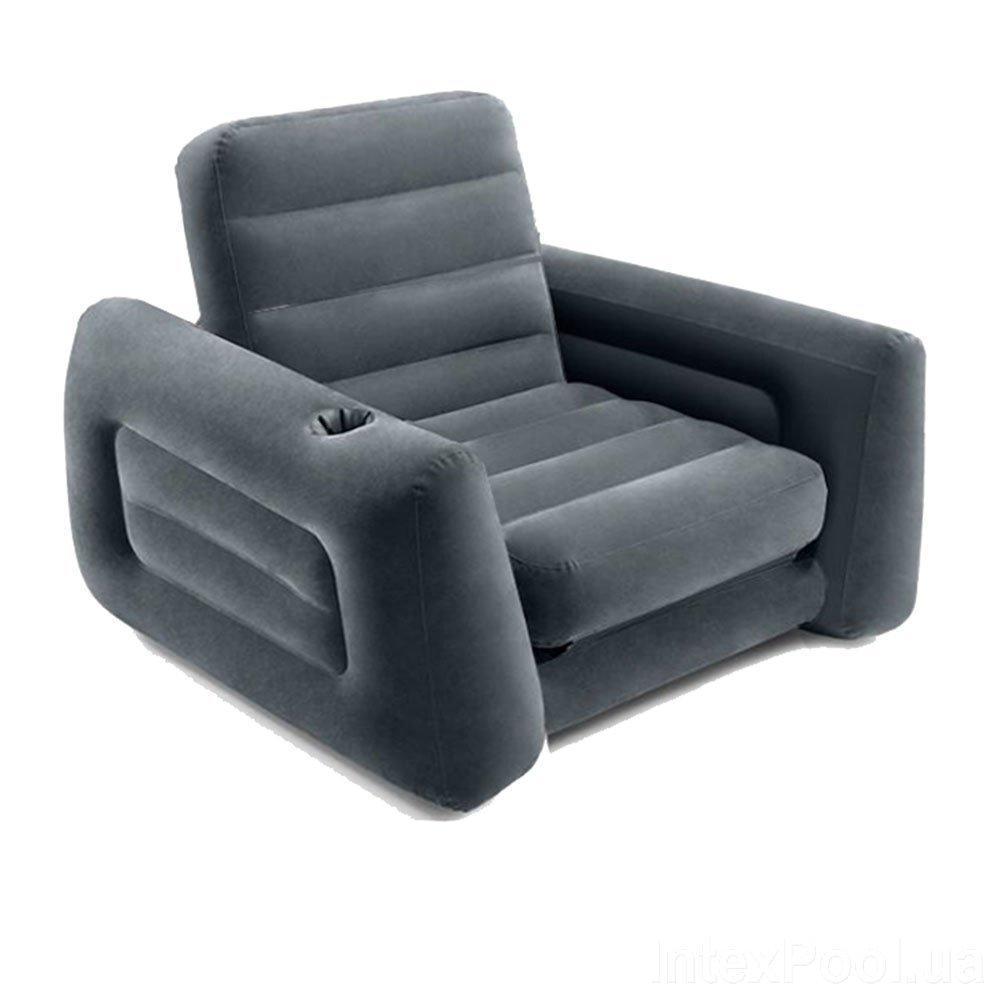 Надувное кресло Intex 66551, 117 х 224 х 66 см, черное