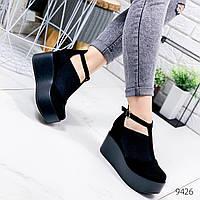Туфли женские Free черные замша 9426, фото 1