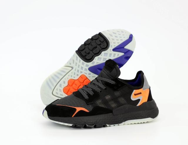 Кроссовки Adidas Nite Jogger Black Orange фото