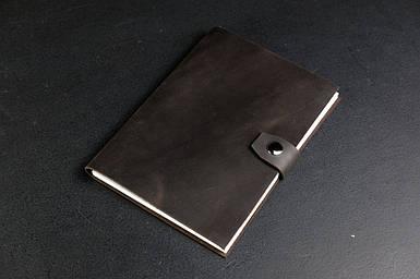 Блокнот в шкіряній обкладинці формату А5 Вінтажна шкіра колір Шоколад