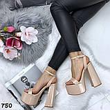 Женские босоножки на толстом каблуке 14 см, платформа 5,5 см, фото 3