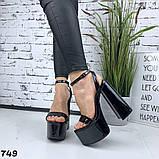 Женские босоножки на толстом каблуке 14 см, платформа 5,5 см, фото 5