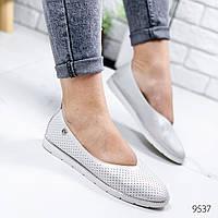 Туфли балетки женские Bella серебро 9537, фото 1