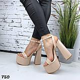 Женские босоножки на толстом каблуке 14 см, платформа 5,5 см, фото 2