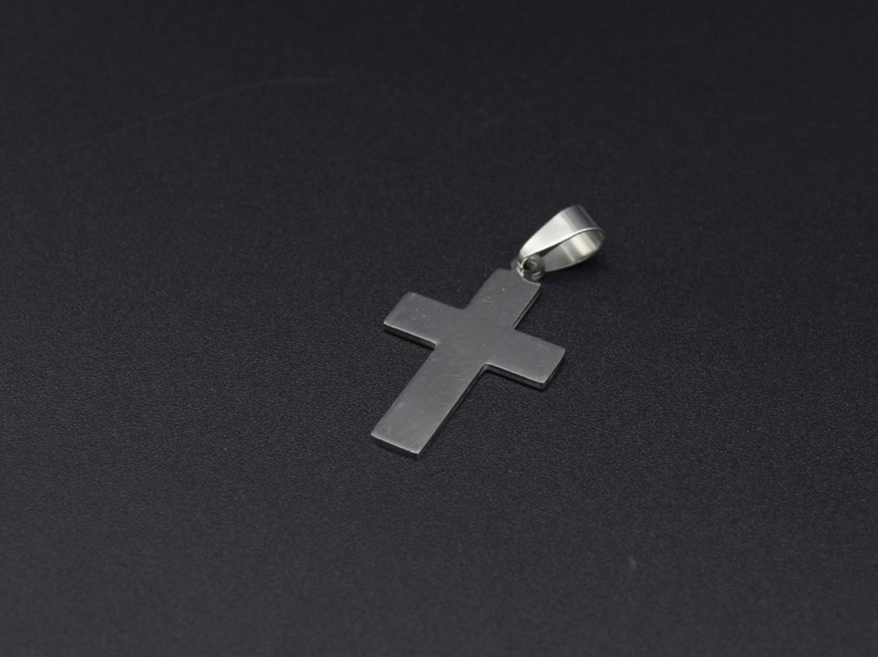Подвески из нержавеющей стали. Крест. 33х20мм