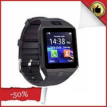 Умные смарт часы, Smart Watch DZ-09 чёрные плюс USB LED. Smart часы, фото 2