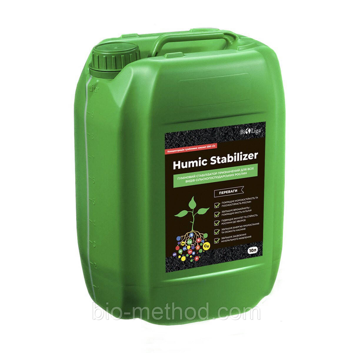Гумат K/Na  HUMIC STABILIZER  10л