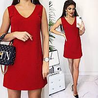 Платье женское нарядное, вечернее, люрекс на трикотаже, короткое, ровное, модное, эффектное, стильное, фото 1