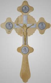 Хрест напрестольний 5-3 золоч.