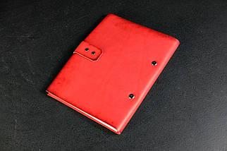 Блокнот в кожаной обложке формата А5 Итальянский краст цвет Красный, фото 2
