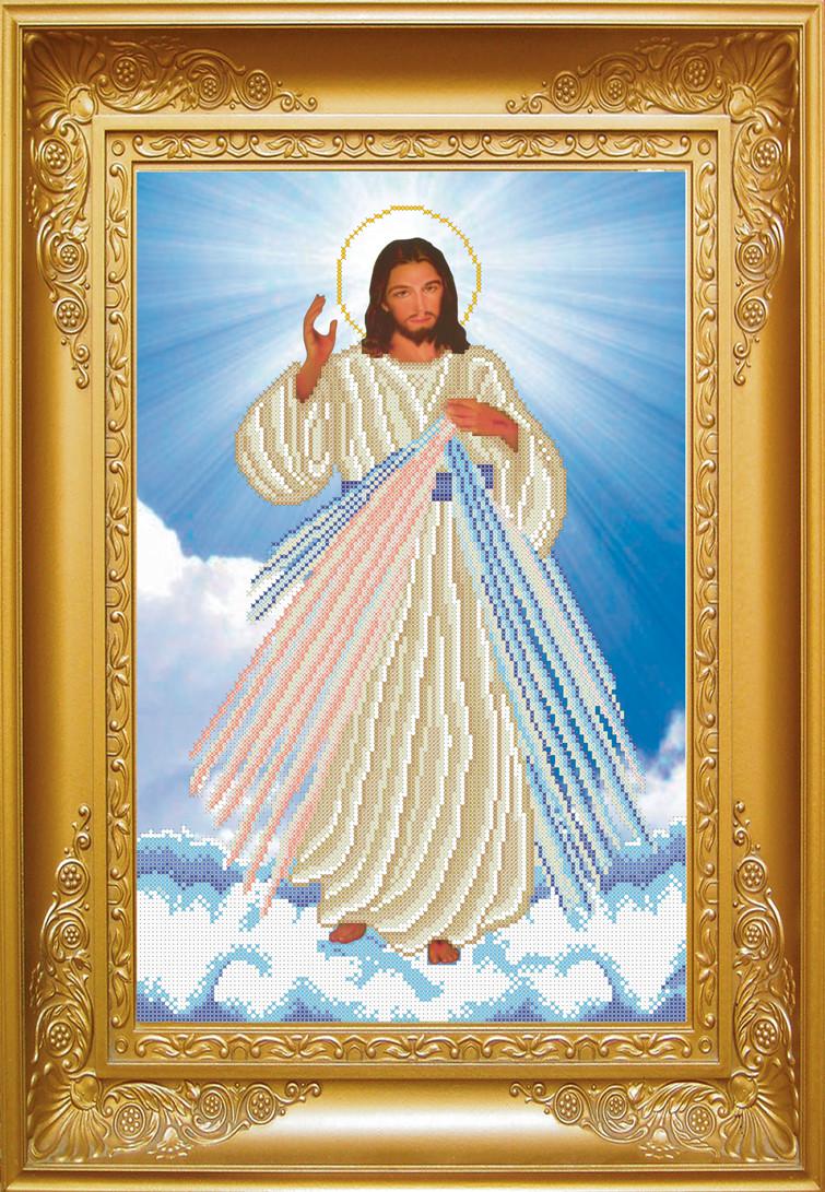 Схема для вишивки бісером Ісусе, уповаю на Тебе. Арт. КРВ-22