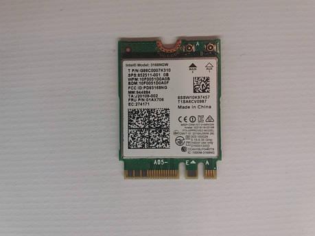 Б/У Wi-Fi модуль Intel® 3168NGW от ACER Aspire ES1-572 ES1-523 ES1-532 ES1-533 ES1-533G, фото 2