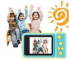 Детский фотоаппарат с экраном Smart Kids Camera V8 ГОЛУБОЙ | Цифровой фотоаппарат для детей, фото 5