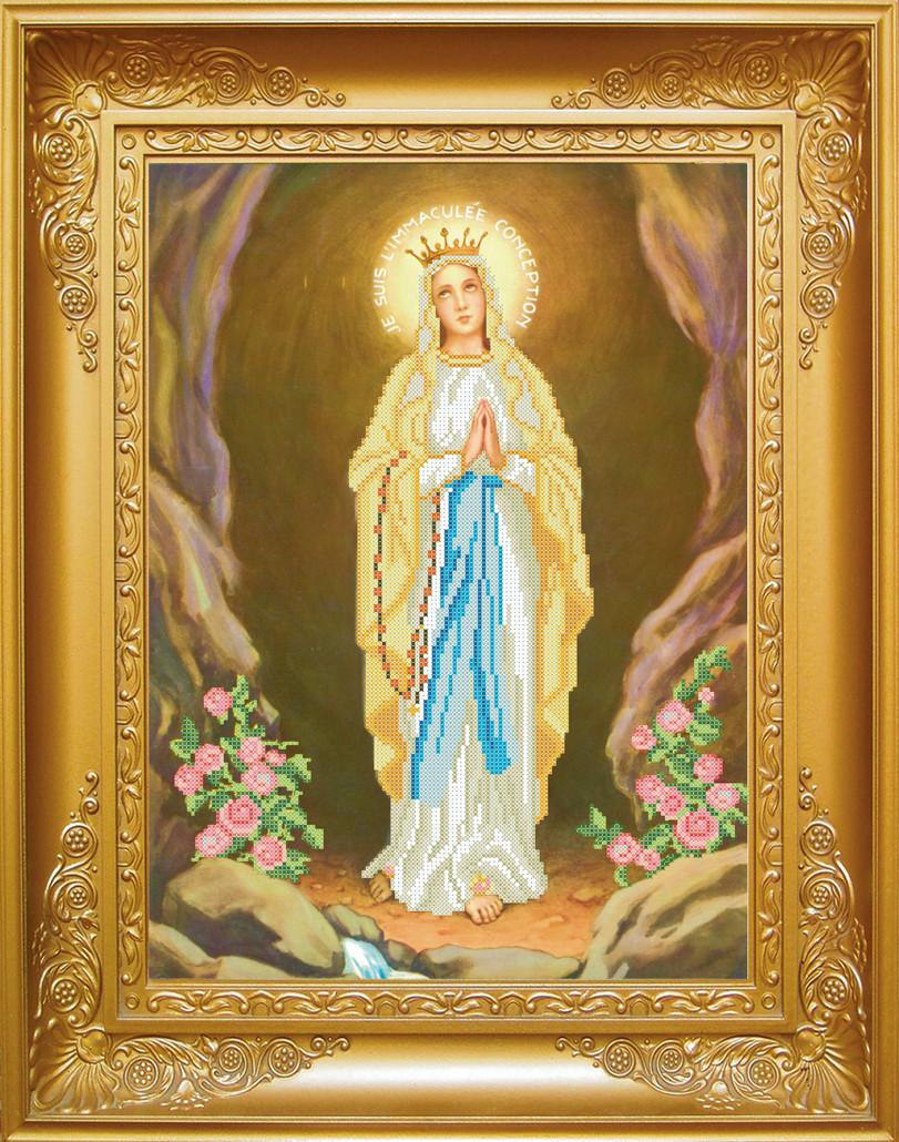 Схема для вишивки бісером Ікона Чудотворної Матері Божої з Люрду. Арт.  КРВ-20 6f73eb2b44a43