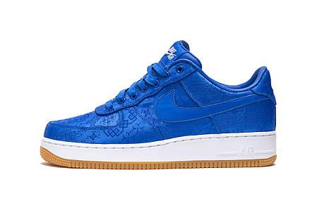 """Кроссовки Nike Clot x Air Force 1 Low """"Синие"""", фото 2"""