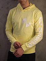 Худи мужское толстовка свитшот с капюшоном весенний осенний желтый Versace Riot Generation