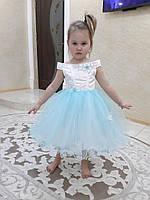 """Детское бело - голубое  платье """"Милашка"""", фото 1"""