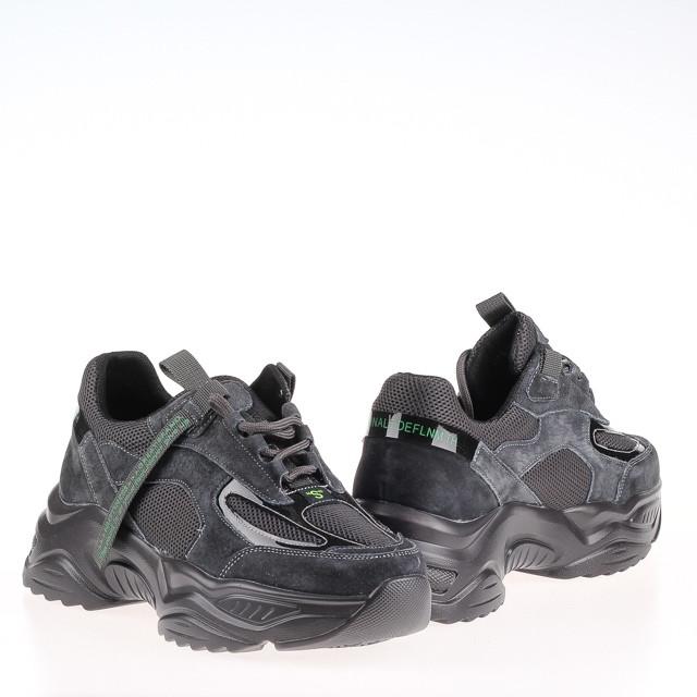 Стильные женские кроссовки  Lonza HLN29021 GREY ZAMSHA ВЕСНА 2020 /// 29021 GRAY//882