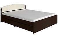 Кровать двуспальная Астория с 4-мя ящиками и матрасом венге темный + дуб молочный Эверест (165х203х79 см)