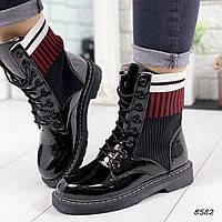 Ботинки женские Queila черные 8582