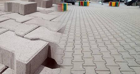 """Тротуарная плитка """"Двойное Т"""" 200х165 высота 80 мм серая, фото 2"""