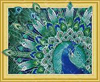 Набор для творчества со стразами НА ПОДРАМНИКЕ Королевская птица, Артикул: 188373, Размер: 40*50